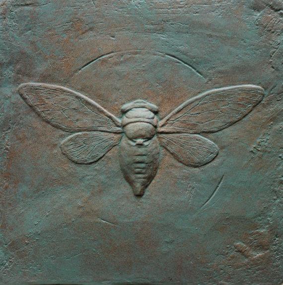 Cicada Tile Verdigris