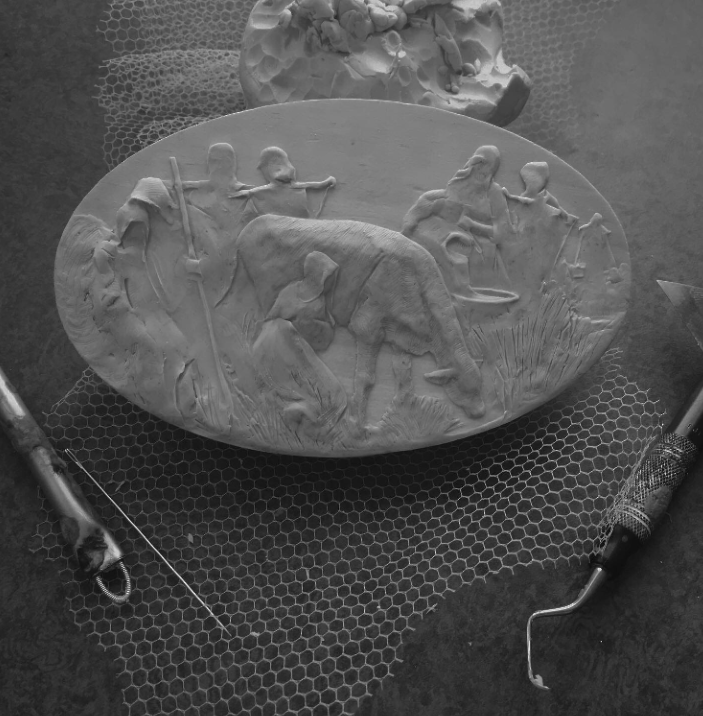 The little figures still move about as the clay/Spirit directs...